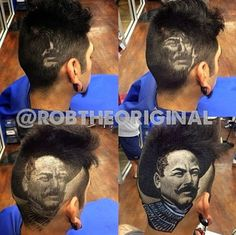 coiffures bizarres de rob the original coiffeur san antonio 9   les coiffures bizarres de Rob the Original    Rob the Original photo instagr...