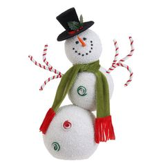 Beaded snowman covered in tiny beads, available in 2 sizes  shelley b home and holiday