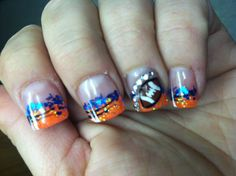 Look at these Boise State nails! GO BRONCOS!