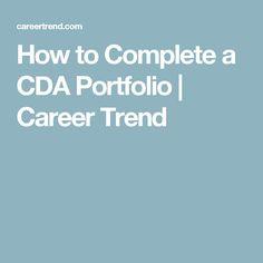 How to Complete a CDA Portfolio | Career Trend