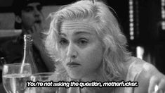 madonna truth or dare MOVIE CAP   black and white madonna relaxed truth or dare animated GIF