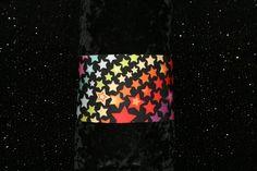 fitness headband, yoga headband, running headband, sport headband, wide headband, spandex headband funky hippie rainbow stars black headband by GoOutsideAndPlayUSA on Etsy