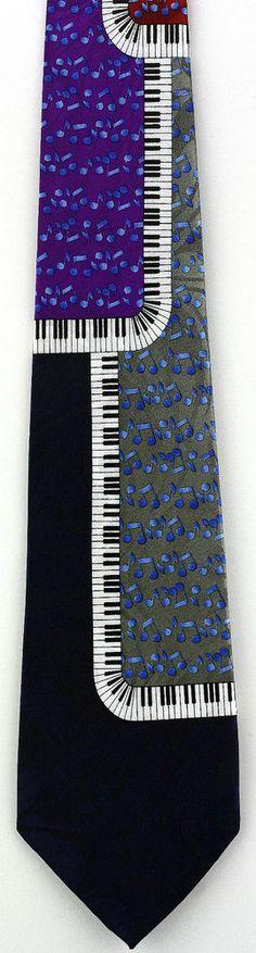 New Musical Piano Ragtime Mens Necktie Keys Keyboard Music Blue Notes Neck Tie #StevenHarris #NeckTie