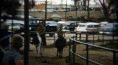 1959: Kid's pony ride at popular amusement park. http://www.pond5.com/stock-footage/57670192?ref=StockFilm keywords:kids, riding, horse, amusement, park, carnival, circus, pony, parking lot, fence, gates, trot, gallop, walk, brothers, boys, 1959, 1950s, 8mm, film, old, times, tv, commercial, home movie, vintage, retro, archive, nostalgia, memories, throwback, Americana, documentary, editorial, historic, preserve, restore, real, classic, era, priceless, generation, timeless, humanity…
