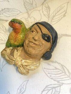 Pirate Parrot, Christmas Presents, Pirates, 1960s, Retro Vintage, Toy, Lovers, Ceramics, Bird