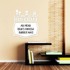 Wall decal whiteboard Comptoir bistrot – Wall Decals Whiteboard All the Whiteboard - Ambiance-sticker
