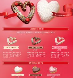 Valentines Day Donuts in Japan