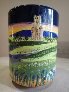 Hand painted ceramics by Pam Smith : My latest firing using some new ideas and techniqu. Hand Painted Ceramics, Shot Glass, Mugs, Tableware, Painting, Ideas, Hand Painted Pottery, Dinnerware, Tablewares