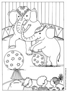 Circus Elephants Coloring Page Hellokids Members Love This You Can Choose Other Pages For Kids From CIRCUS