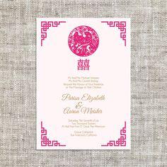 DIY Digital/Printable/ Editable Chinese Wedding Invitation Card ...