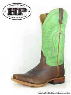 Horse Power brown & kiwi cowboy boots