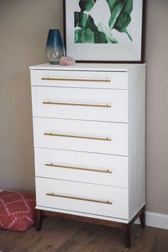 New Bedroom Dresser Redo Ikea Hacks Ideas Ikea Tarva Dresser, Ikea Drawers, Ikea Hack Nightstand, Refinished Dressers, Tall Dresser, Ikea Bedroom Design, Bedroom Decor On A Budget, Bedroom Ideas, Mesas De Luz