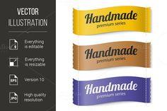 Labels Handmade series. Premium Icons. $5.00