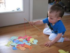 Fishing For Letters Game - No Time For Flash Cards. ANY SHAPE! TO MATCH THEME! ADD TO SENSORY BIN??