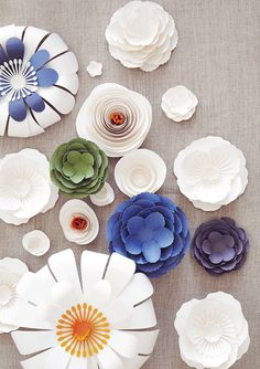 creative colors in these paper flowers. #crafty