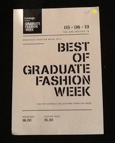 David attended the Graduate Fashion Week show front row seating. David J, You Are Invited, Bees Knees, Graduation, Cards Against Humanity, David Gandy, Invitations, Front Row, Catwalk