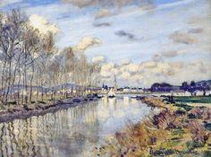 Argenteuil, vu du petit bras de la Seine (C Monet - W 197),1872.