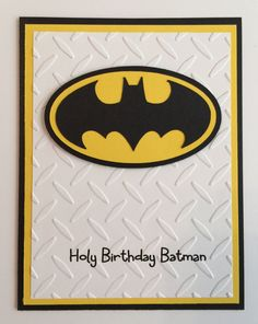 This handcrafted card is full of special touches! All cards are made with high quality card stock and supplies! Pattern paper may change depending on availability! All cards includes envelopes! Outside: Holy Birthday Batman Inside: Happy Birthday This card can also be made into birthday invitations! :) Special Features: Multi-layer, embossed, 3 dimensional Card size: A2 - 5.5X4 Want to change colors, quantities & sayings... contact me for a custom order. All items come from a smoke - fr...