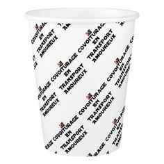 CAR-POOLING IN AMOROUS TRANSPORT - Word games Paper Cup - Saint Valentine's Day gift idea couple love girlfriend boyfriend design