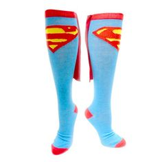 Superman Knee High Socks 2 Pairs, 13,80€, now featured on Fab.