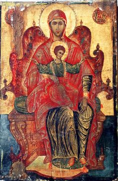 Two Monks Invent Byzantine Art Byzantine Art, Religious Icons, Virgin Mary, Inventions, Painting, Painting Art, Blessed Virgin Mary, Paintings, Blessed Mother