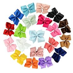 20pcs Big Bow Hair Clips Jmkcoz 6 Hair Bows Hair Pins Barrettes Grosgrain Ribbon Large Boutique Hair bows Alligator Clips for Girls Women >>> Check out this great product.(This is an Amazon affiliate link and I receive a commission for the sales)