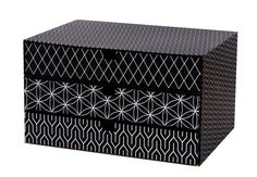 GOLDBUCH Module de classement OFF-LINE Carton 3 tiroirs 25 x 34,5 x 18,5 cm Noir - Blanc: Amazon.fr: Fournitures de bureau