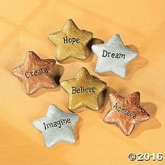 Star-Shaped Graduation Stones. Set a congratulatory and inspiring tone for the graduate with these resin star stones. Shimmering in goldtone, silvertone and ...