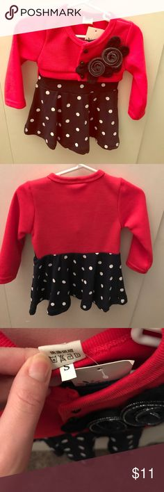 🌺NEW🌺Long Sleeve Dress. Adorable!! Adorable! Size says small but size it is similar to 12-18 month size. It's a dark navy color. Top 10% Seller/ Fast Shipper! 📦💌 Top-Rated Seller ⭐️⭐️⭐️⭐️⭐️ Dresses