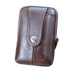1b64e0c1ac21ab Men Genuine Leather Vintage Waist Bag - Banggood Mobile Leather Wallet,  Leather Shoulder Bag,