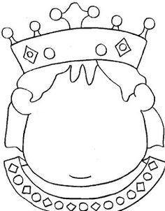 Great empty face for emotions to be adde Coloring Sheets, Coloring Pages, Chateau Moyen Age, Castle Crafts, Fairy Tale Crafts, Petunia, Art For Kids, Crafts For Kids, Princess Crafts