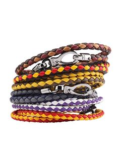 """These men's leather bands from Tod's are a grown-up version of friendship bracelets and look perfect when paired with a classic watch."" —William Kahn, Associate Accessories Editor (tods.com; $225 each)