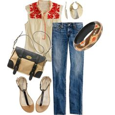 Working at home today by ceve on Polyvore