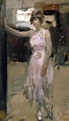 Dancer, Isaac Israëls, c. Ballet Painting, Dance Paintings, Figure Painting, Art Nouveau, Art Deco, Renoir, Monet, Painter Artist, Black And White Painting