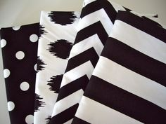 More baby-friendly big, bold, high-contrast fabric. -SH -- Black  white fabric