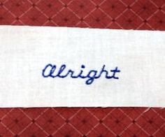 FREE! Tiny Alright Sample | FREE | Machine Embroidery Designs | SWAKembroidery.com
