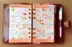 She's Eclectic: My week in my filofax #40 Autumn is a second spring when every leaf is a flower.