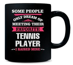 I Raised My Favorite Tennis Player. Gift For Mom - Mug -- Click image for more details.