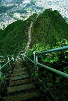 Starway to heaven...On the beautiful Windward side of Oahu Hawaii