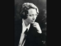 "Edna St. Vincent Millay reads her own ""Ballad of the Harpweaver""...haunting."