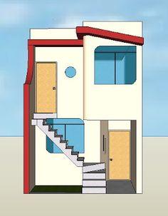 Fachadas y casas casas con fachadas de 4 metros future for Fachadas de casas de 5 metros de ancho