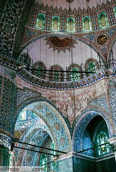 Sultanahmet (or Blue) Mosque built in Istanbul, Turkey. - Beatriz Gomez - - Sultanahmet (or Blue) Mosque built in Istanbul, Turkey. Art Et Architecture, Islamic Architecture, Beautiful Architecture, Beautiful Buildings, Architecture Details, Hagia Sophia, Beautiful World, Beautiful Places, Beautiful Beautiful