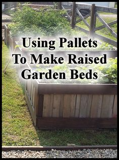 Growing a garden in raised beds has many benefits (read more about that here) but can sometimes be a little costly depending on what you build them out of. I'm all about being frugal and usin… (Diy Garden Bed) Making Raised Garden Beds, Raised Bed Garden Design, Building A Raised Garden, Raised Gardens, Raised Vegetable Gardens, Zen Gardens, Diy Garden, Garden Boxes, Garden Projects