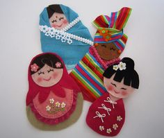 Felt Dolls from Around the World