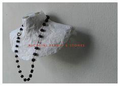 Zwart lava collier, zoetwaterparel aan zilveren sluiting!  Galerie De Leidse Lente Lava, Stone, Design, Design Comics, Rocks, 1st Birthdays, Rock, Stones