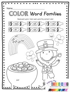 MARCH NO PREP CENTERS - FREEBIES - math and literacy worksheets - teen numbers - addition subtraction simple math equations - cvc words - first middle ending sounds - word families - rhyming - journaling - writing simple sentences - sight words - color words - march - st. patrick's day - leprechauns - rainbows #kindergartenliteracy #kindergartenmath Kindergarten Lessons, Teaching Kindergarten, Kindergarten Worksheets, Kindergarten Preparation, St Patricks Day Quotes, St. Patricks Day, File Folder Games, Sight Words, St Patrick Day Activities