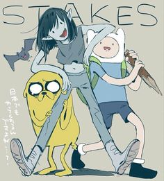 Adventure Time Marceline Abadeer Marcy Vampire Queen Finn Mertens The Human Jake The Dog Stakes