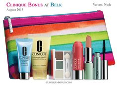 It's here. 1st Fall Clinique gift @ Belk. Spend min. $27. Choose Nude or Pink variant. http://clinique-bonus.com/belk/