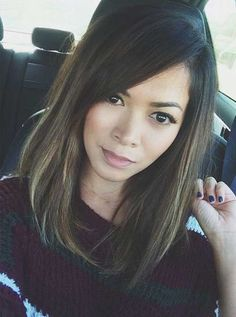Dark Brown Long Straight Bob-1