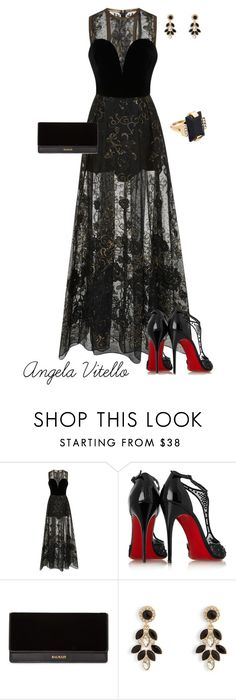 """Untitled #842"" by angela-vitello on Polyvore featuring Elie Saab, Christian Louboutin, Balmain, Vera Bradley and Marni"